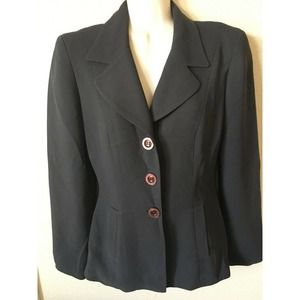 Bebe Collared Lined 3 Button Dress Blazer Jacket